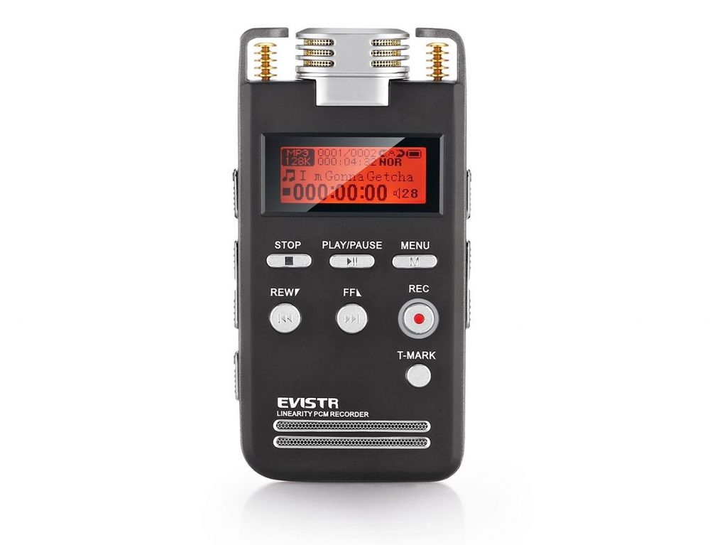 7. EVISTR Voice Recorder 8GB PCM 1536K Clear Stereo Audio