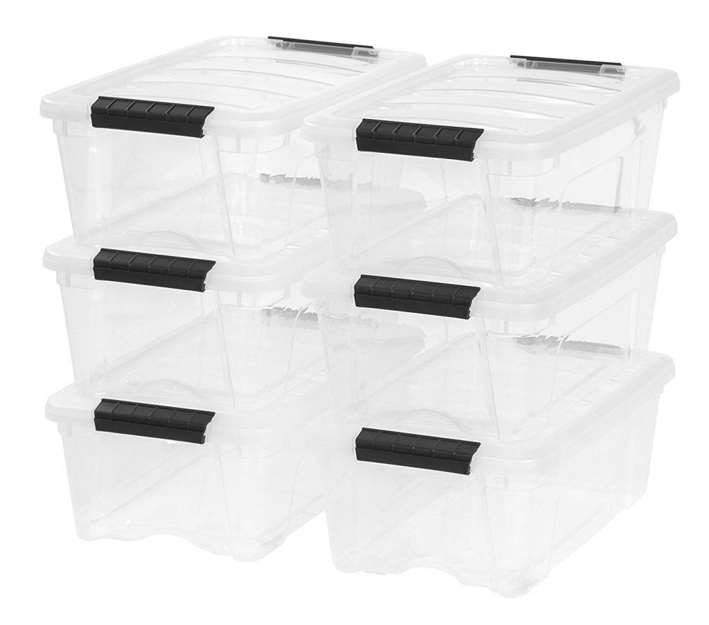 7. IRIS 12 Quart Stack & Pull Box, 6 Pack