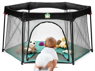 7. Infant Pack and Play Portable Playard - Baby Playpen Suitable for Indoor or Outdoor Use - Weather Resistant Canvas
