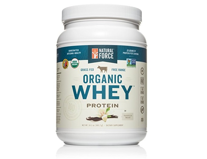 7. Natural Force® Organic Whey Protein Powder