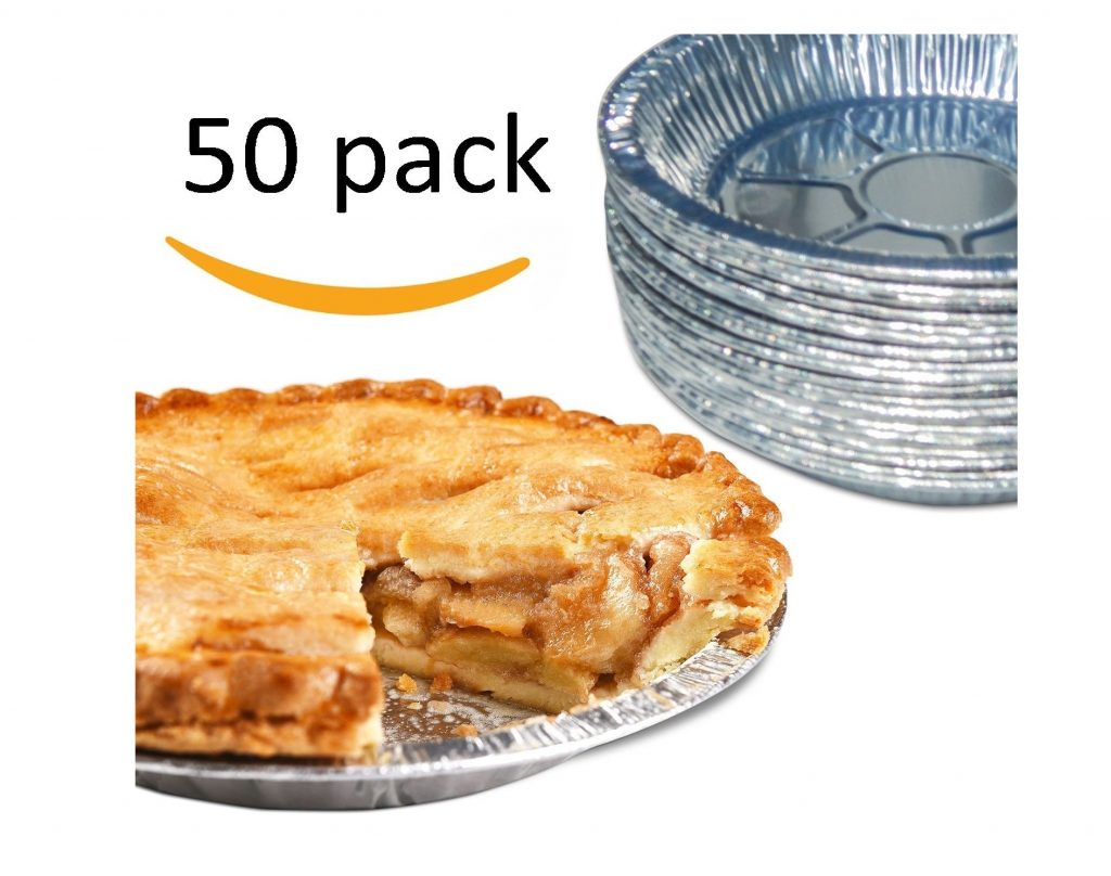 7. Premium Aluminum Foil Pie Pans. Disposable Tin Plates for Pies Tart Quiche. (Pack of 50)