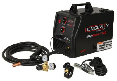 LONGEVITY Migweld 140 - 140 Amp Mig Welders Capable of Flux-Core 110v