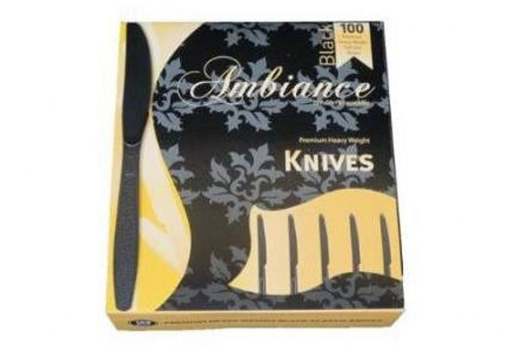8. Crystalware Heavy Weight Plastic Knives