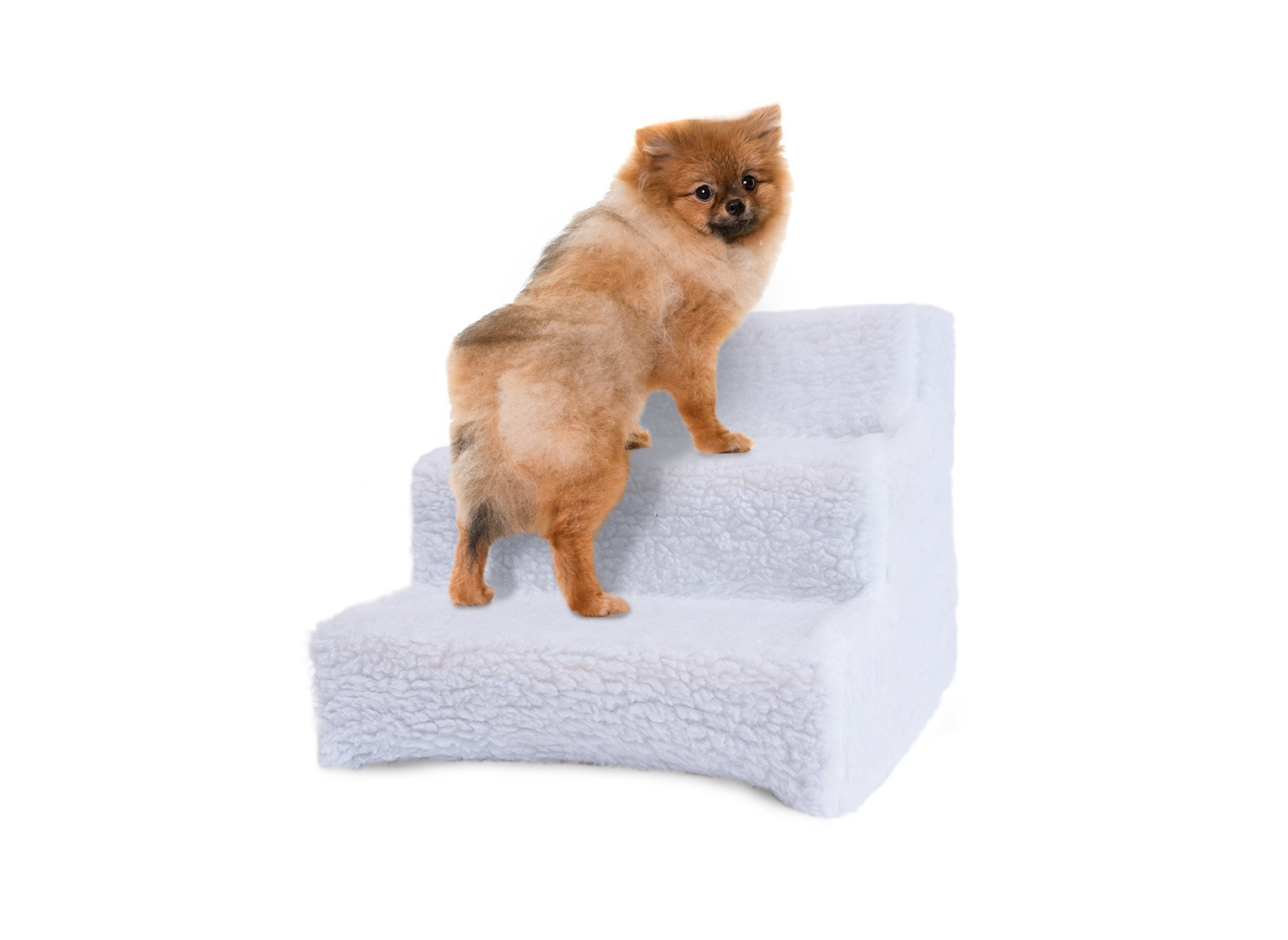 Pet Stairs For Tall Bed Foam Pet Steps White 5 Step Dog Cat Animal Ramp Pet  Supplies