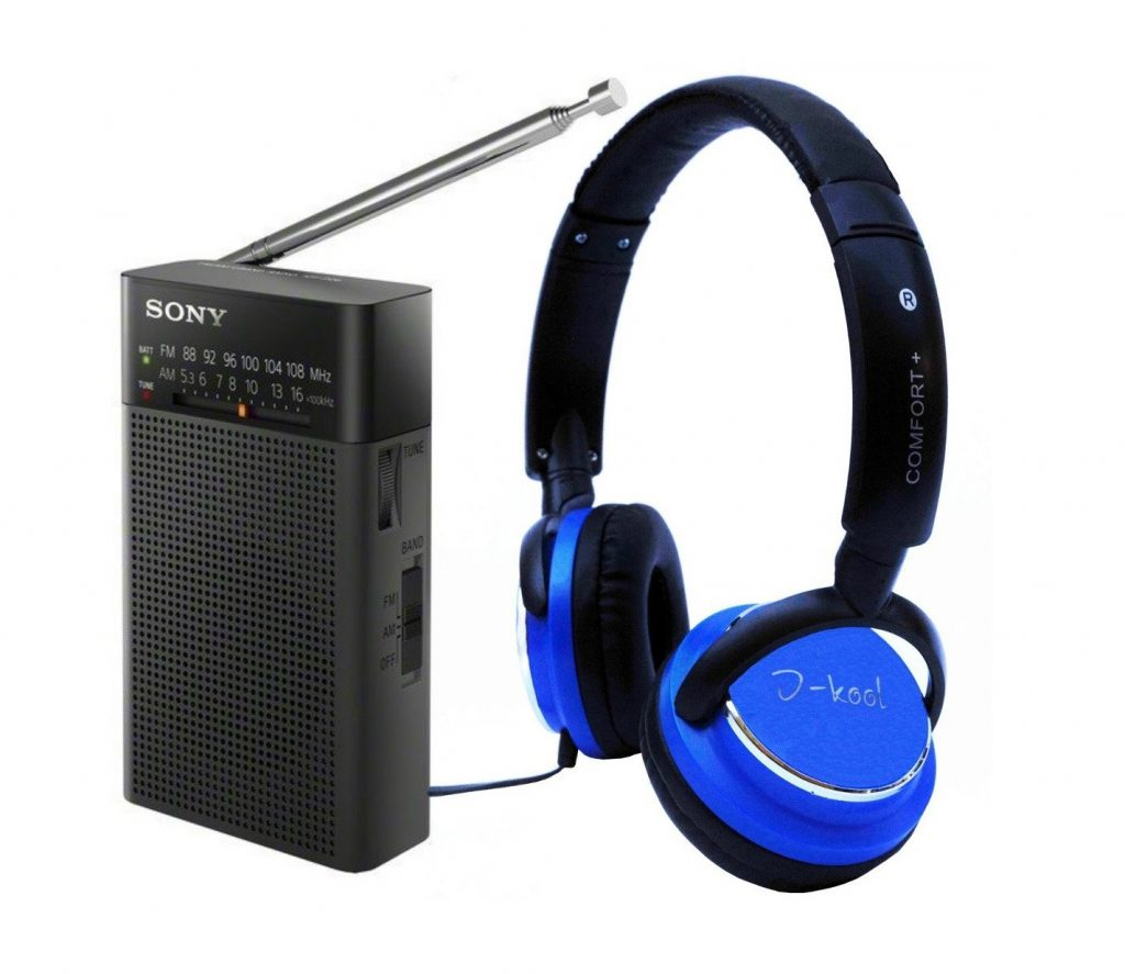 8. Sony ICFP26 Portable Radio Black & bonus I-kool Comfort Plus Headphone Blue