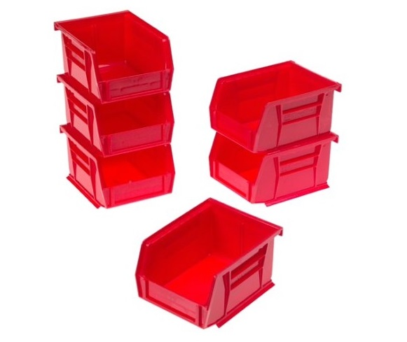 9. Akro-Mils 8212 Six Pack of 30210 Plastic Storage