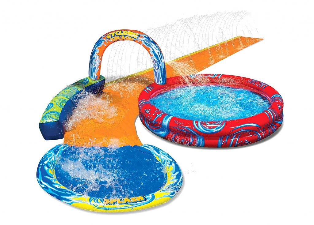 9. Banzai Cyclone Splash Pool and Cuved Water Slide Outdoor Water Fun