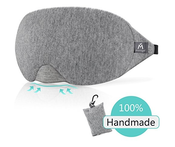 9. Cotton Sleep Eye Mask - 100% Blindfold Sleep Mask for Women & Men