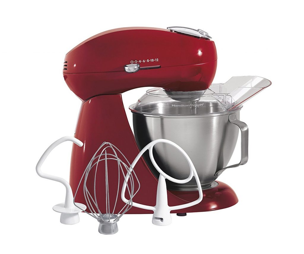 9. Hamilton Beach 63232 Eclectrics All-Metal Stand Mixer - Red