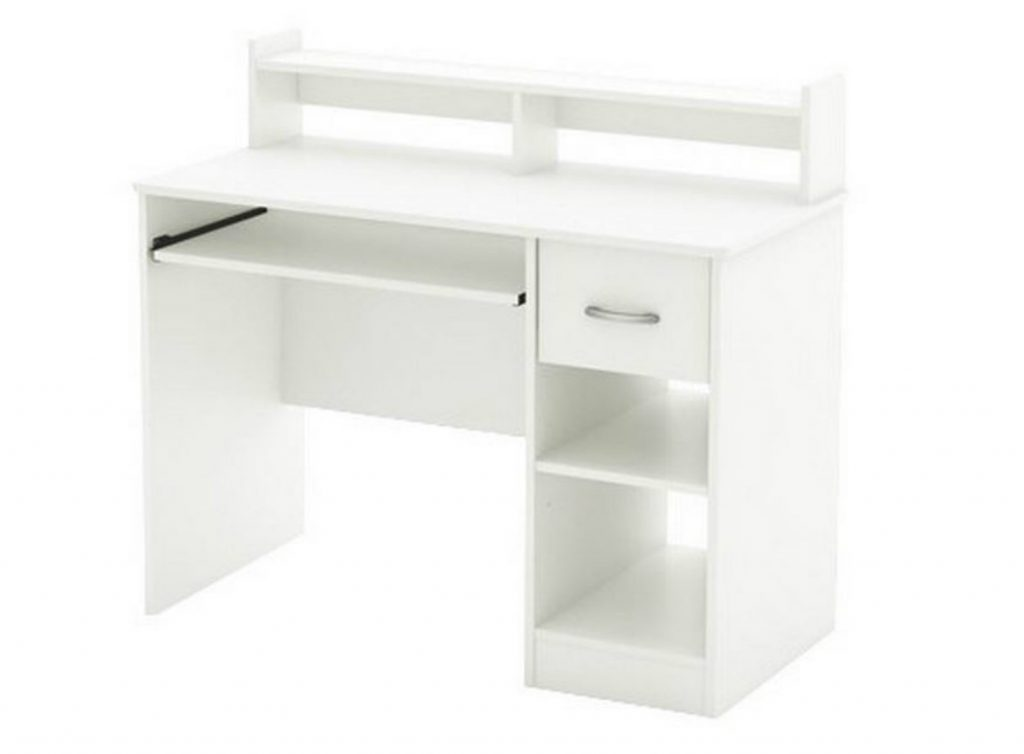 9. South Shore Study Table Desk Furniture, White