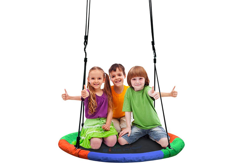 "Blue Island Tree Swing-Children's Outdoor Large Size 40"" Diameter Durable Swing"