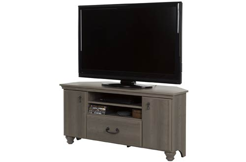 Noble Corner TV Stand - Fits TVs Up to 55'' Wide - Gray Maple