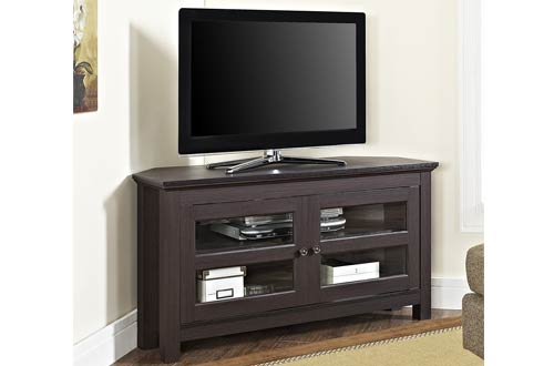WE Furniture 44 Inch Cordoba Corner TV Stand