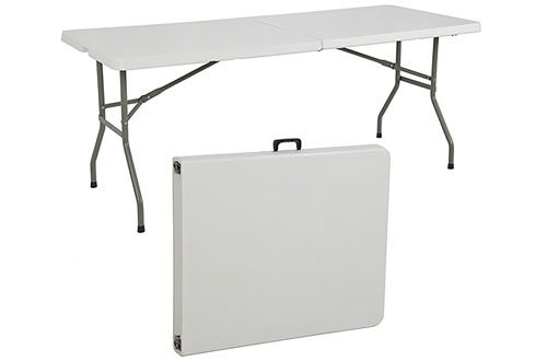 Outdoor Portable Folding Plastic Table for Dining and Camping
