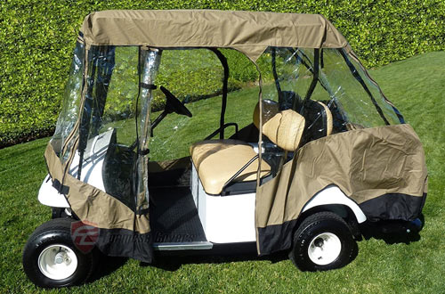 Premium Tight Weave Golf Cart Driving Enclosure for 4 seater
