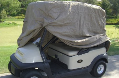 Deluxe 4 Passenger Golf Cart Cover roof