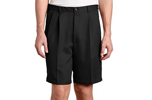 Haggar Men's Cool 18 Hidden Expandable-Waist Pleat-Front Short