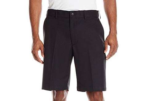 PGA TOUR Men's Expandable Flat Front Short