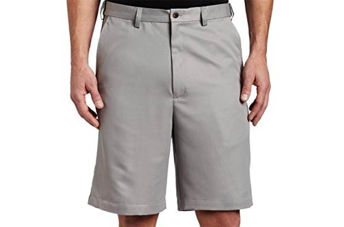 Haggar Men's Cool 18 Gabardine Hidden Expandable-Waist Plain-Front Short