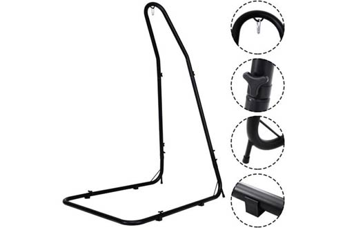Giantex Adjustable Hammock Chair Stand Solid Steel Construction for Hammock Chairs and Swings
