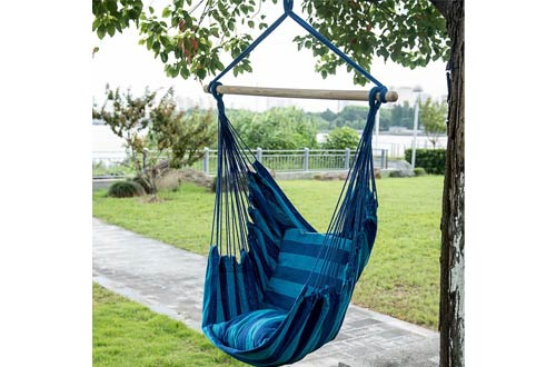 Smart Living Company 10018287 Blue Stripe Hammock Chair