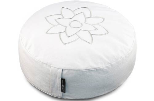 Large White Meditation Pillow Cushion