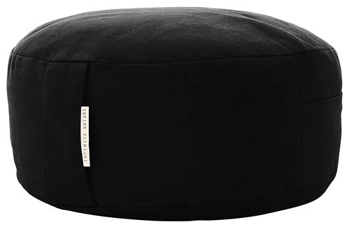 Yoga Meditation Cushion Zafu With Buckwheat Fill