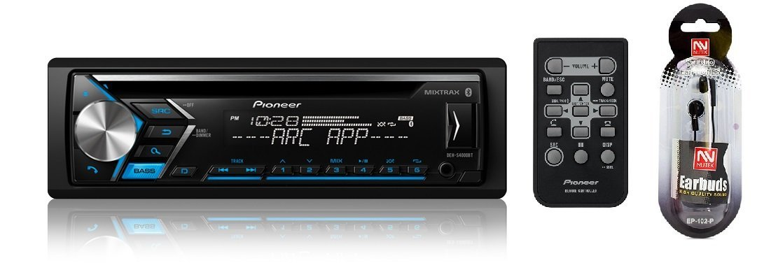 Pioneer DEH S4000BT Single Din In Dash CD