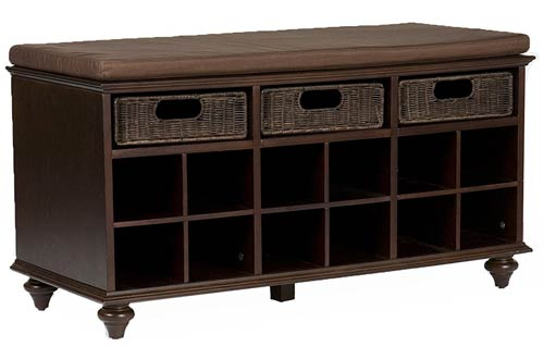 Southern Enterprises Chelmsford Entryway Shoe Storage Bench