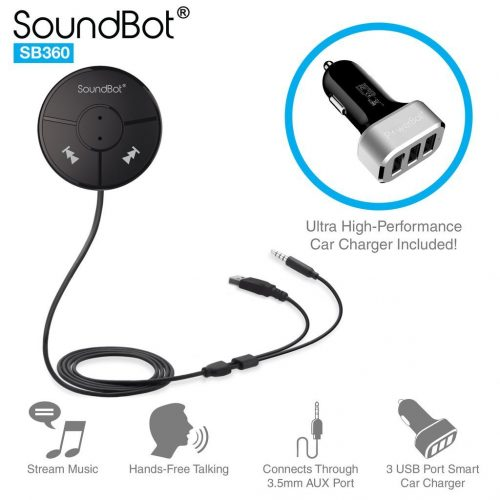 SoundBot SB360 Bluetooth 4.0 Car Kit