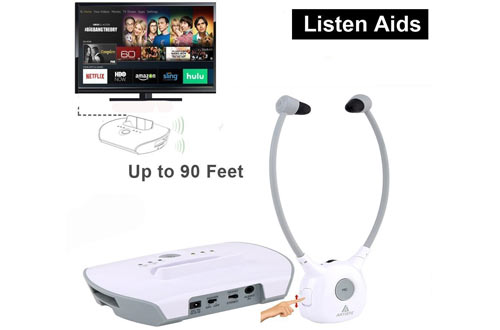 Wireless Hearing Aid Headset System,Artiste 2.4G TV Assistive Listening Headphones