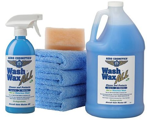 Wet or Waterless Car Wash Wax Kit