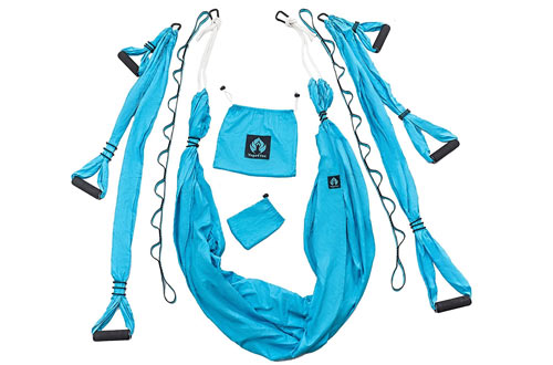 Yoga Swing/Aerial Trapeze Kit with 2 Durable Extension Straps