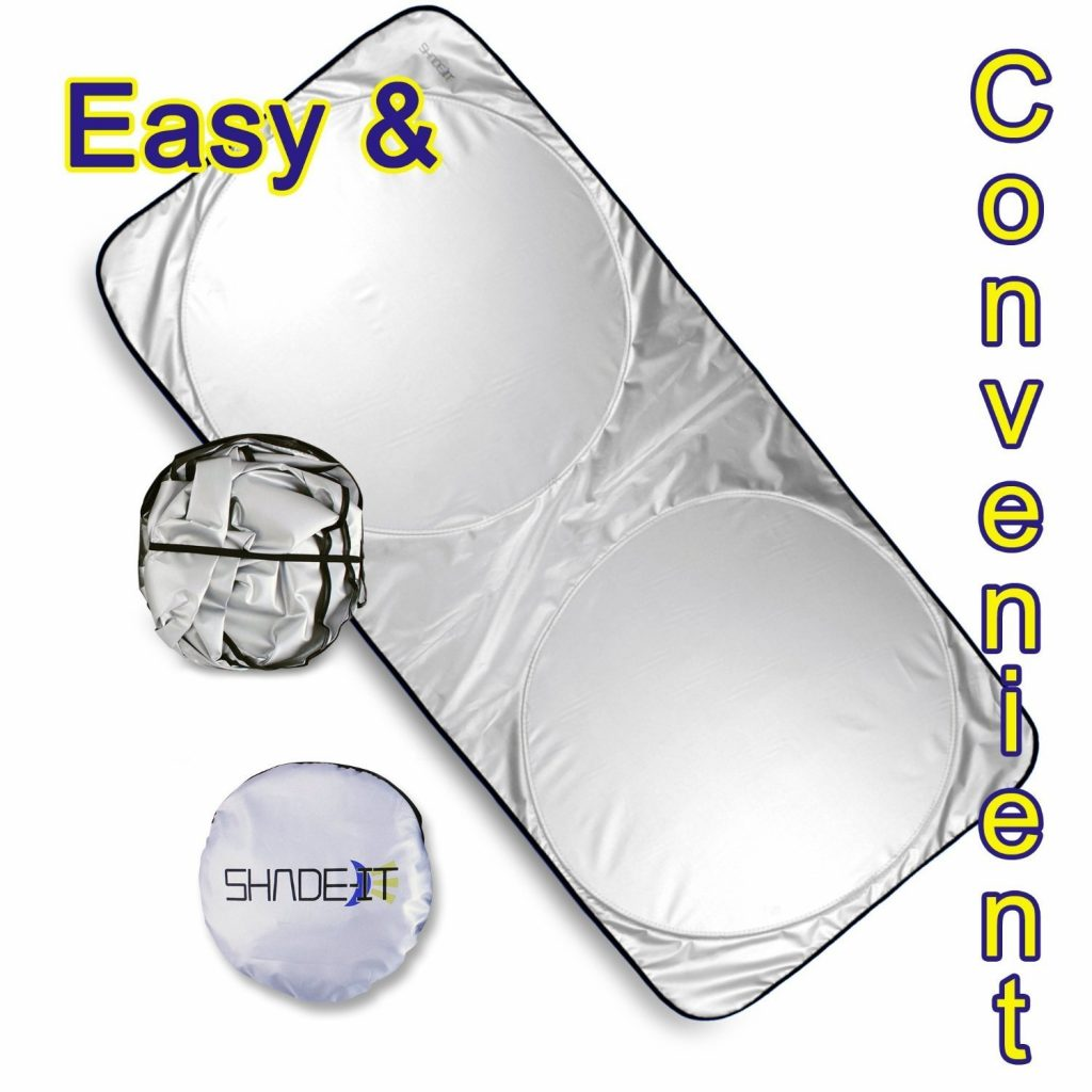 Windshield Sun Shade + Bonus Products. Excellent UV Reflector - Keeping You Cooler