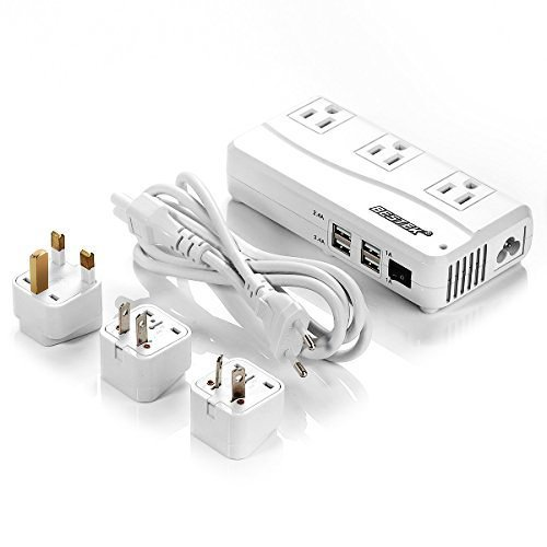 1. ​BESTEK Universal Travel Adapter 220V to 110V Voltage Converter with 6A 4-Port USB Charging