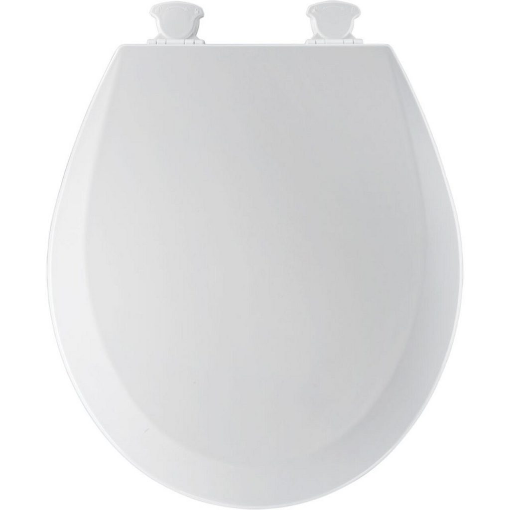 1. Bemis 500EC000 Molded Wood Round Toilet Seat With Easy Clean and Change Hinge, White