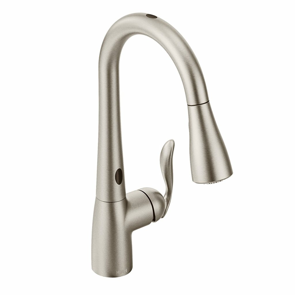 1. Moen Arbor Motionsense Two-Sensor Touchless One