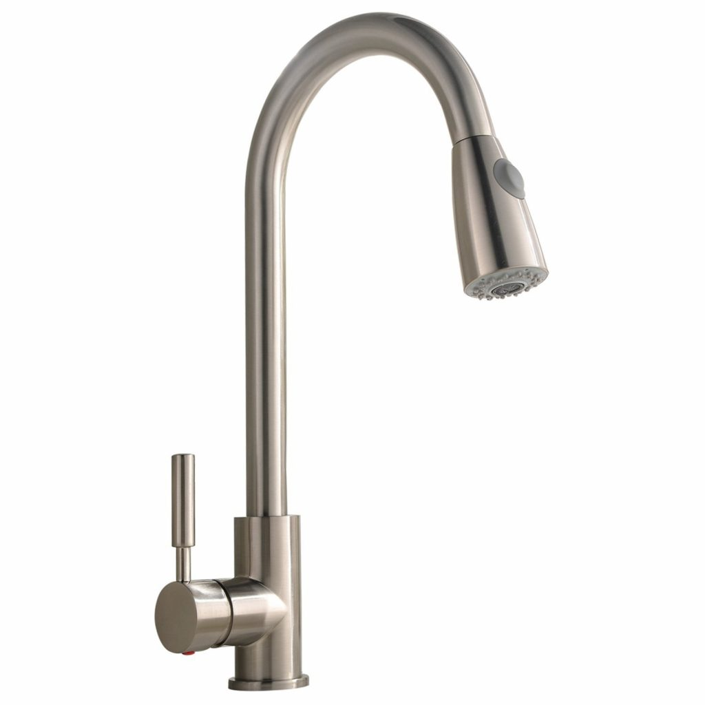 2. Best Commercial Stainless Steel Single Handle Pull Down Sprayer Kitchen Faucet, Pull Out Kitchen Faucets Brushed Nickel