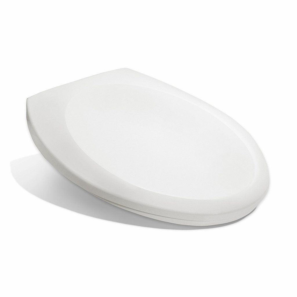 3. Bath Royale Premium Elongated Toilet Seat with Cover, White, Slow-Close, Quick-Release for Easy Cleaning. Fits All Elongated