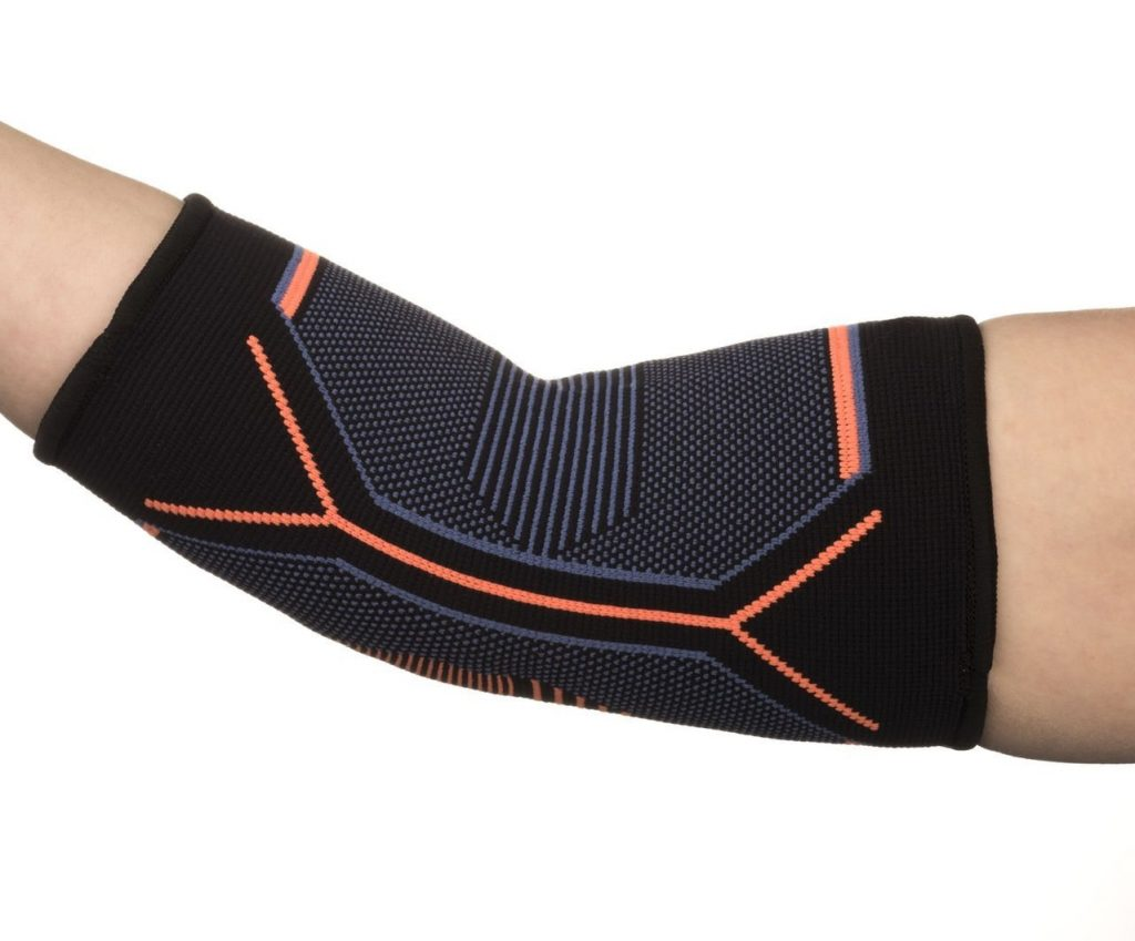 3. Kunto Fitness Elbow Brace Compression Support Sleeve for Tendonitis, Tennis Elbow, & Golf Elbow Treatment – Reduce Joint Pain During ANY Activity!