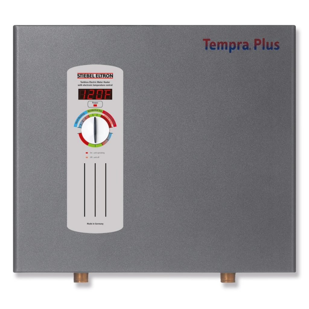 3. Stiebel Eltron Tempra Plus 24 kW, tankless electric water heater with Self-Modulating Power Technology & Advanced Flow Control