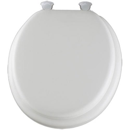 4. Mayfair Soft Toilet Seat with Molded Wood Core and Easy-Clean
