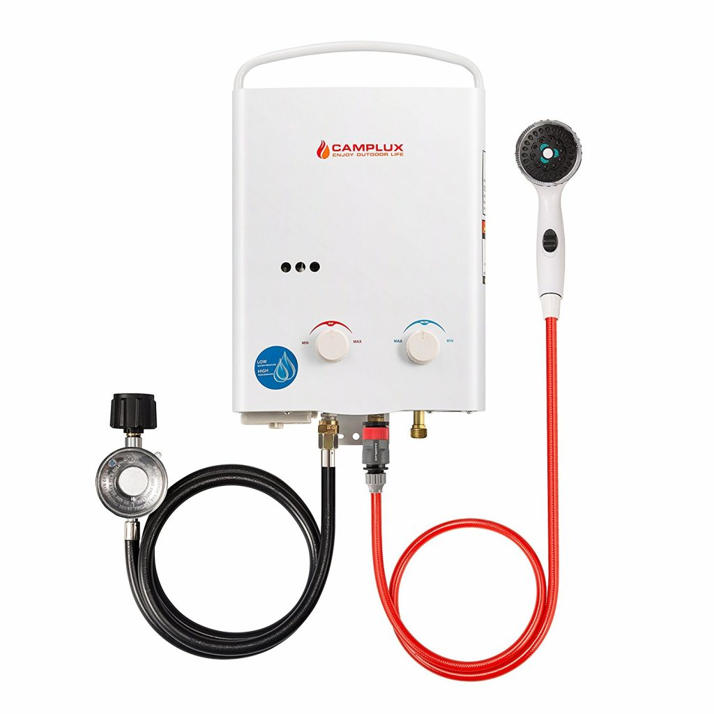 5. Camplux 5L 1.32 GPM Outdoor Portable Propane Tankless Water Heater
