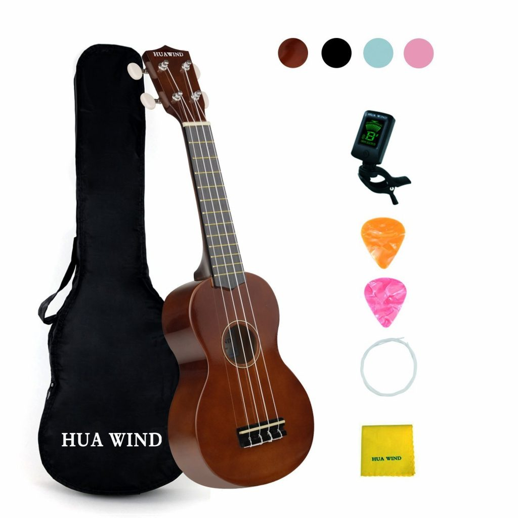 5. Soprano Ukulele For Beginners Four String Ukulele Start Pack