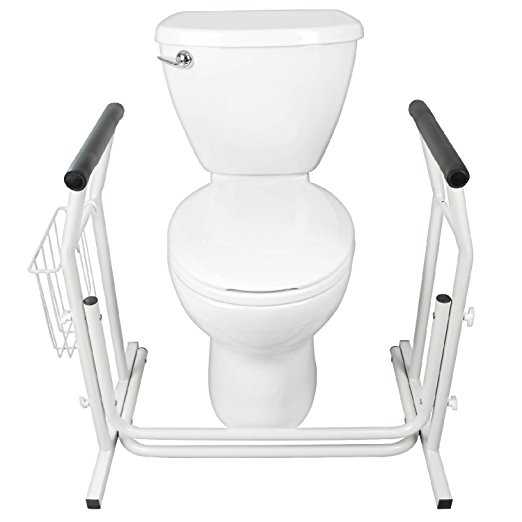 5. Stand Alone Toilet Rail by Vive - Medical Bathroom Safety Assist Frame