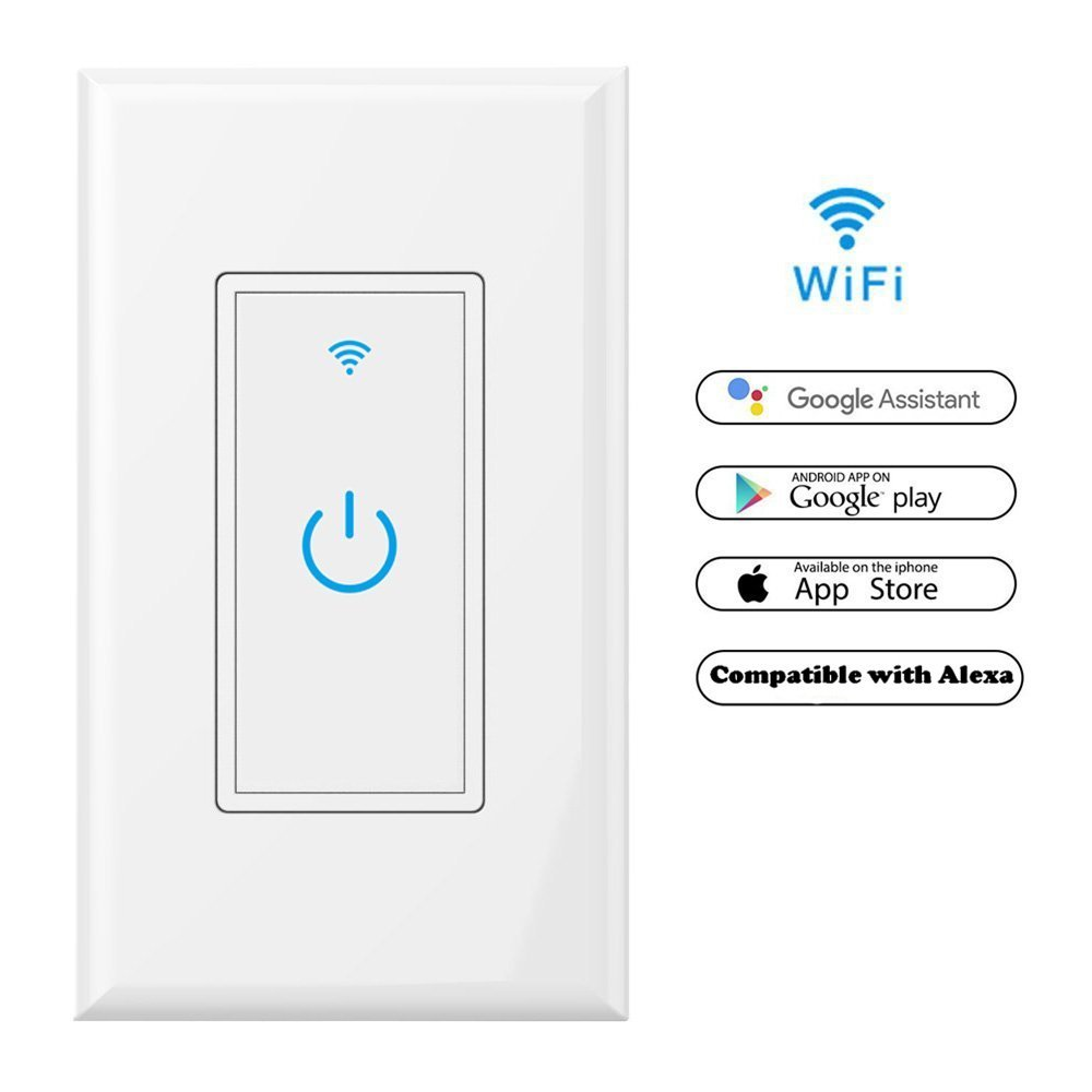 5. WiFi Smart Light Switch In-Wall,Phone Remote Control Wireless Switch No Hub Required,Timing Function
