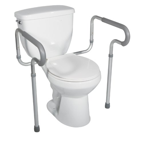 6. Drive Medical Toilet Safety Frame, White