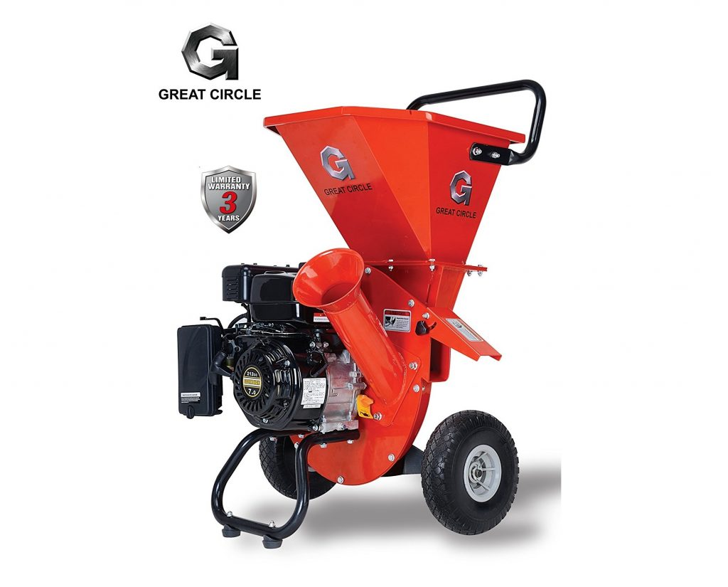 6. GreatCircleUSA 7HP Heavy Duty 212cc Gas Powered 3 IN 1 Multi-Function Pro Wood Chipper Shredder for Lawn and Garden Outdoor