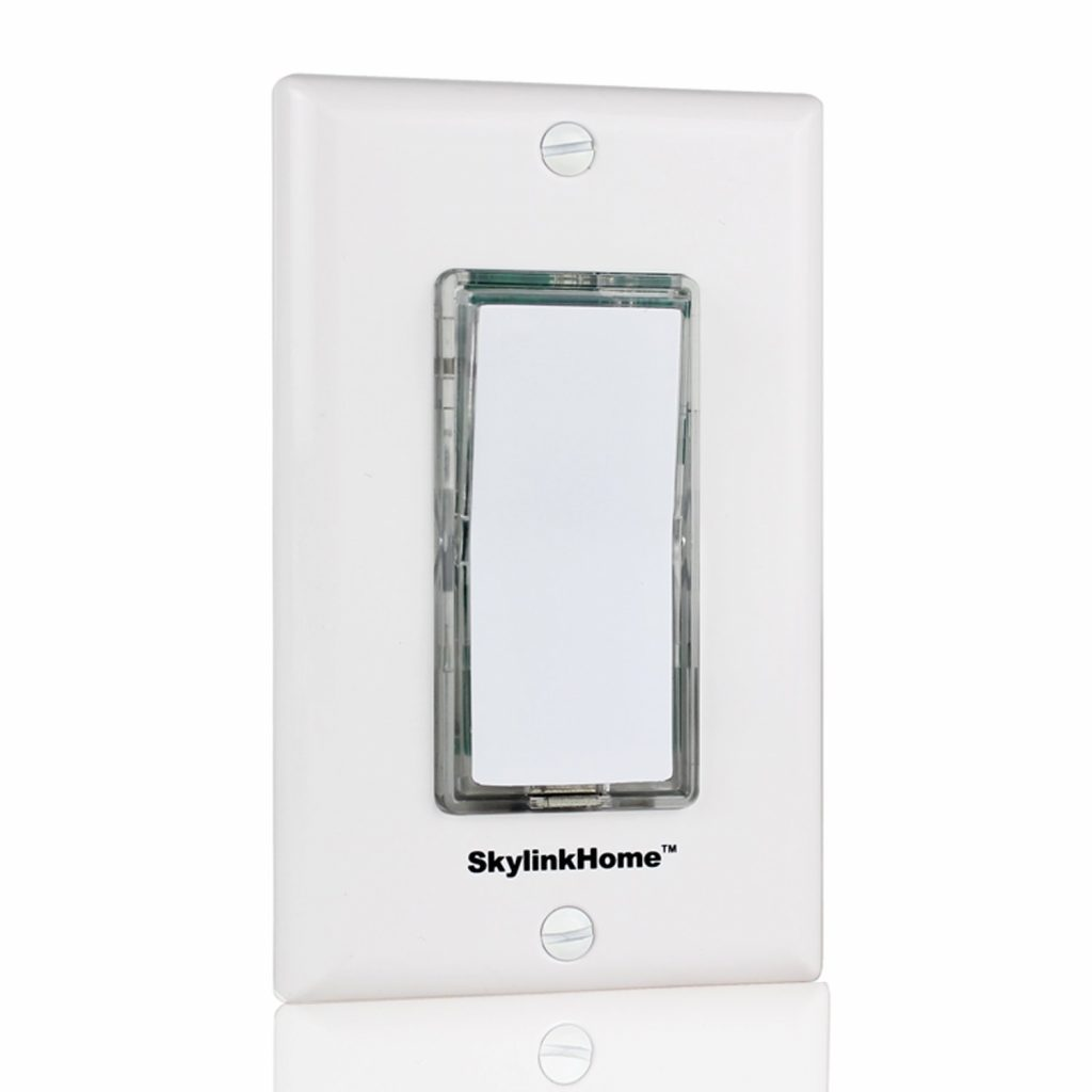 6. SkylinkHome TB-318 Wireless Stick-on or Wall Mounted Battery Operated Anywhere Wall Light Switch Remote Transmitter