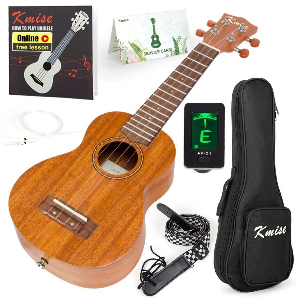 6. Ukulele Soprano Mahogany 21 Inch Ukelele Uke With Beginner Kit